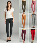 S M L Women's Comfort Stretch Thick JEANS JEGGINGS Skinny Slim Pants Mid Rise