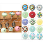 Ceramic Knob Wall Hooks Coat Key Hat Hangers Shabby Chic Bohemian Boho Decorativ