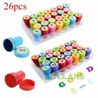 26pcs/Set Novelty Children Kids Plastic Letters/Number Stamp Seals Toy Gifts