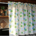 Village Cotton linen block lace Home Kitchen blinds Cafe Curtain Tree Forset