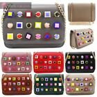 LARGE STUDS NEW LADIES FAUX LEATHER CHAIN STRAP BOX SHAPE CROSSBODY BAG HANDBAG