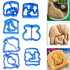 Children Kids DIY Sandwich Cake Bread Crust Cutter Mould Stamp Animal Shapes