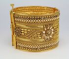 Wedding party Gold Plated cuff screw open bangle barcelet fashion jewellery new