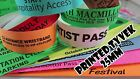 Printed Tyvek Wristbands - 100  25mm Party, events, security bands