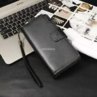 Men's Long Wallet PU Leather ID Card Photo Holder Clutch Purse Gift N98B