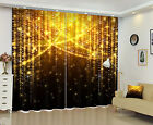 3D Blockout Drapes Fabric Window Mural Printing Curtains Gold Flicker Glitter QF