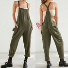 Women Loose Long Pants Trousers Dungarees Overalls Jumpsuit Playsuit Rompers