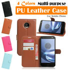 Moto Motorola Z Force Droid / XT1650 Leather Case PSC Cover Wallet Stand Folio