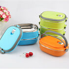 1xPortable Thermal Insulated Stainless Steel Food Picnic Container Lunch Box HOT
