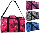 """New Womens Girls 20"""" Floral Hand Luggage Travel Holdall Overnight Cabin Bag Case"""
