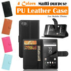 Sony Xperia Z5 Compact / Z5 Mini Leather Case PSC Cover Wallet Card Pouch Stand