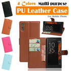 Sony Xperia XZ Leather Case PSC Multi-purpose Cover Wallet Card Stand Folio