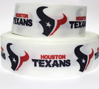 "GROSGRAIN RIBBON 7/8"" & 1.5"" Houston Texans T7 SPORTS TEAM COMBINE SHIP Printed $0.99 USD on eBay"