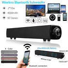 Home Theater Sound Bar Bluetooth Wireless Subwoofer Soundbar Speaker System AUX