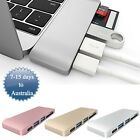 5in1 USB Hub Type-C USB 3.0 Micro SD Card Reader For MacBook Pro Charge & Sync