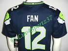 NWT SEAHAWKS Boys NIKE 12th Man FAN Blue Home Game JERSEY #12 YOUTH M L or XL