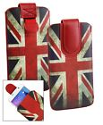 Stylish PU Leather Pouch Case Cover Sleeve has Pull Tab Fits Intex Phones