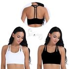 Women's Ladies Yoga Fitness Stretch Bra Workout Tank Top Seamless Padded Strappy