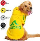 Pet Dog Clothes Warm Hoodie Sweater Coat Jacket for Labrador Golden Retriever