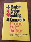 Modern Bridge Bidding Complete Alvin Roth And Jeff Rubens ~1968~hardcover NICE!
