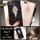 3D Iphone Case Crystal Bling Ice Cream Cartoon For 6 6s 7 8 Plus