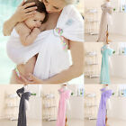 US Newborn Baby Toddler Cradle Pouch Ring Sling Carrier Plain Wrap for 0-12M BKB