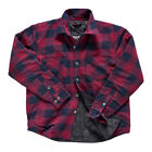 Triumph Motorcycles Plaid Riding Shirt Sweatshirt Sweater Black/Red MTHS17108 $124.95 USD