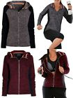 NEW NEXT LADIES GREY BERRY RED SPORTS TECH HOODED FLEECE TRACK TOP UK SIZE 6-22