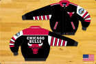 NBA JH Design Chicago Bulls Wool  And Leather Jacket made in USA  Handmade