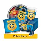 POLICE PARTY Birthday Range NEW Tableware Balloons Banners Decorations Supplies