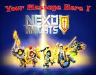 Nexo Knights Party ! Edible Cake Topper  quarter , half sheet, round , strips