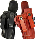 TAGUA BLACK LEATHER EXTRA COMFORT IWB DUAL SNAP RH HOLSTER - Choose Color & Gun