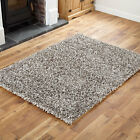 GREY FEATHER STYLE HIGH QUALITY RUG 80x150cm SMALL 4CM THICK PILE MODERN RUG MAT