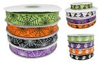 3/6/12m of Halloween Grosgrain Craft Gift Wrap Ribbon Ghost Spider Web Witch Hat