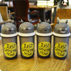 New Creative Totoro Face Emotion Plastic Drink Cup Double Layer Detachable Cup