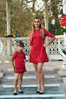 New Family Matching Dresses Mother & Daughter Women Girls Party Lace Dress US
