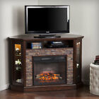 """Alcott Hill Montpelier Corner Convertible 50"""" TV Stand with Fireplace"""