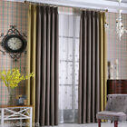 New (Right) Flat plain chenille cloth shade curtains Solid Living Room Bedroom