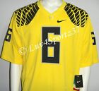 NWT OREGON DUCKS Yellow NIKE FOOTBALL GAME JERSEY #6 MEN L XL 2XL