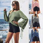 Us Women Casual Long Sleeve Knitted Pullover Loose Sweater Jumper Tops Knitwear