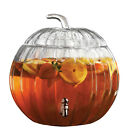 PUMPKIN WINTER COLD DRINKS GLASS DISPENSER OPTIONAL PUMPKIN GLASSES SET OF 4