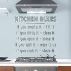 Wallums Wall Decor Kitchen Rules Quote Wall Decal