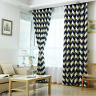 1Panel Voile Window Curtains High Shade Curved Curtain Stripe For Living Room