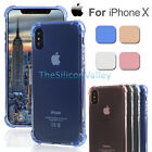 Crystal Transparent Clear Shockproof Soft TPU Case Back Cover For Apple iPhone X