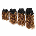 4pcs Sew InToni Curl Ombre Hair Weave Bouncy Curly Synthetic Hair Extension 170g
