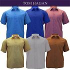Mens Big size  Tom Hagan Plain Smart Formal Short Sleeve Shirt 3XL 4XL 5XL