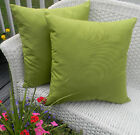 """Set of 2 20"""" x 20"""" Square Outdoor Decorative Throw Pillows ~ Select Solid Colors"""