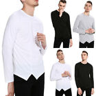 Men's O Neck Tops Tee Shirt Slim Fit Long Sleeve Cotton Casual T-Shirt New
