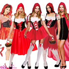 LADIES ADULT SEXY LITTLE RED RIDING HOOD BOOK DAY CHARACTER FANCY DRESS COSTUME