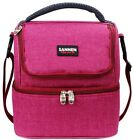 7L oxford insulated cooler lunch bag tote handbag lunch box food container with